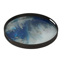Notre Monde Blue Mist Glass Tray Small