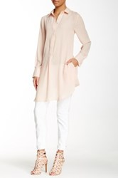 Blvd Long Sleeve Oversized Blouse Pink