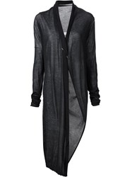 Isabel Benenato Fine Knit Long Coat Black