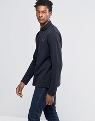 Wood Wood George Long Sleeve Polo Dark Navy