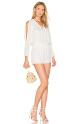 Krisa Lace Up Romper White