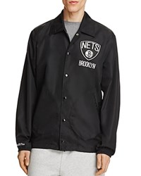 Mitchell And Ness Brooklyn Nets Coach Jacket 100 Exclusive Black