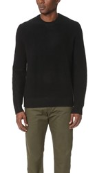 Vince Boiled Cashmere Crew Sweater Black