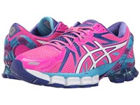 Asics Gel Sendai 3 Hot Pink White Turquoise Women's Running Shoes