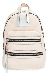 Marc By Marc Jacobs 'Domo Biker' Leather Backpack Pink Pearl Blush