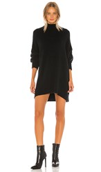Free People Afterglow Mock Neck Sweater Dress In Black.
