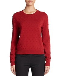 424 Fifth Textured Dot Pullover Red Dahlia