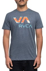 Rvca Men's Chopped Va Graphic T Shirt Dark Denim
