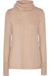 Magaschoni Cable Knit Cashmere Sweater Beige