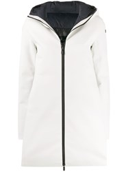 Rrd Boxy Fit Hooded Coat White