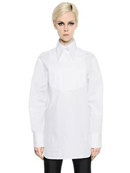 Ellery Cotton Poplin And Pique Shirt