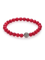 John Hardy Batu Classic Chain And Stabilized Red Coral Bead Bracelet Red Coral
