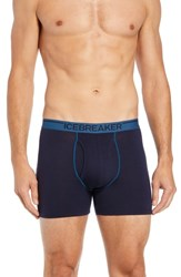 Icebreaker Anatomica Fly Boxers Midnight Navy Prussian Blue