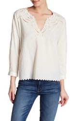 The Kooples Broderie Anglasie Dobby Shirt White