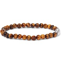 Tateossian Tiger's Eye Sterling Silver Bracelet Brown