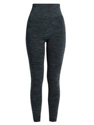 Pepper And Mayne High Rise Compression Performance Leggings Dark Blue
