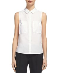 Whistles Sleeveless Shirt White