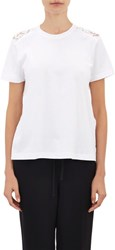 Valentino Lace Back T Shirt White