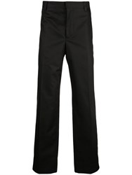 Burberry Contrast Side Print Trousers Black