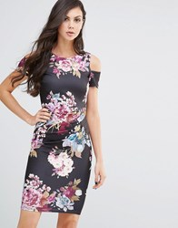 Jessica Wright Avery Midi Pencil Dress Eden Floral Print Multi