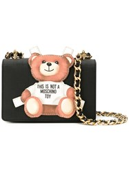 Moschino Toy Bear Paper Cut Out Crossbody Bag Black