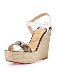 Spachia Leopard Red Sole Espadrille Brown Christian Louboutin