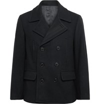 Club Monaco Double Breasted Wool Blend Peacoat Blue