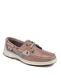 Sperry Bluefish Water Resistant Leather Boat Shoes Tan Leather