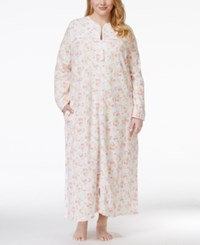 Charter Club Plus Size Rose Print Robe Only At Macy's