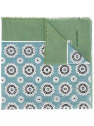 Burberry Floral Pattern Scarf Blue