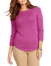 Lauren Ralph Lauren Plus Crewneck Sweater Orchid