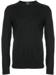 Hugo Boss Crew Neck Sweatshirt Virgin Wool Black