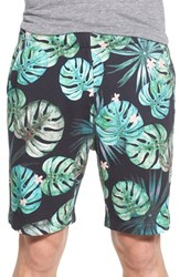 Men's French Connection 'Jungle Punch' Frond Print Knit Shorts