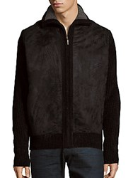 Saks Fifth Avenue Solid Chenille Jacket Black