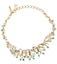 Oscar De La Renta Crystal Embellished Necklace Turquoise