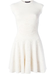 Alexander Mcqueen Victorian Lace Knit Dress White