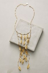 Anthropologie Autumn Song Ladder Necklace Gold