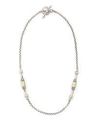 Gold Bullet Station Necklace 18'L Konstantino