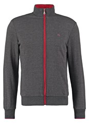Merc Tracksuit Top Grey Mottled Dark Grey