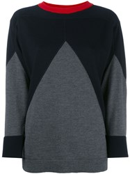 Marni Contrast Knitted Top Blue