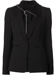 Veronica Beard Hooded Blazer Black