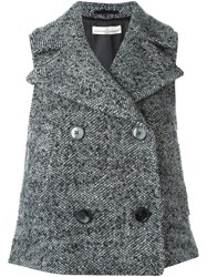 Golden Goose Deluxe Brand Double Breasted Gilet Grey