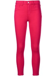 L'agence Mid Rise Skinny Jeans Pink