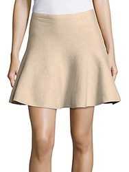 1.State Pleated Cotton Mini Skirt Camel