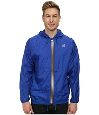 K Way Claude Klassic Waterproof Jacket W Hood Royal Blue Men's Coat