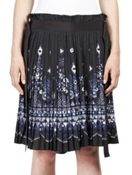 Sacai Belted Tribal Lace Skirt Black