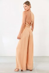 Keepsake Rescue Me Wide Leg Jumpsuit Caramel