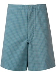 Bellerose Checked Deck Shorts Blue