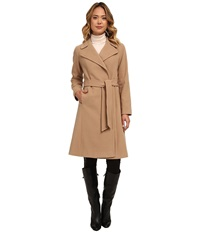 Lauren Ralph Lauren Cashmere Blend Blanket Wrap Laurel Camel Women's Coat Brown