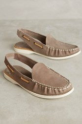 Anthropologie Farylrobin Starboard Slingback Boat Shoes Taupe